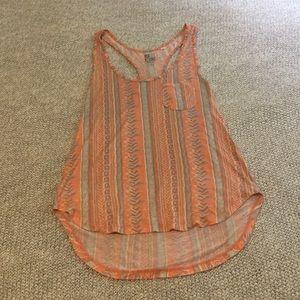 PacSun Orange Aztec Shirt